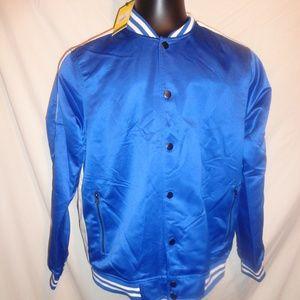 Five Four Blue Satin Baseball Jacket Size Large